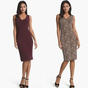 White House Black Market Leopard Reversible Dress